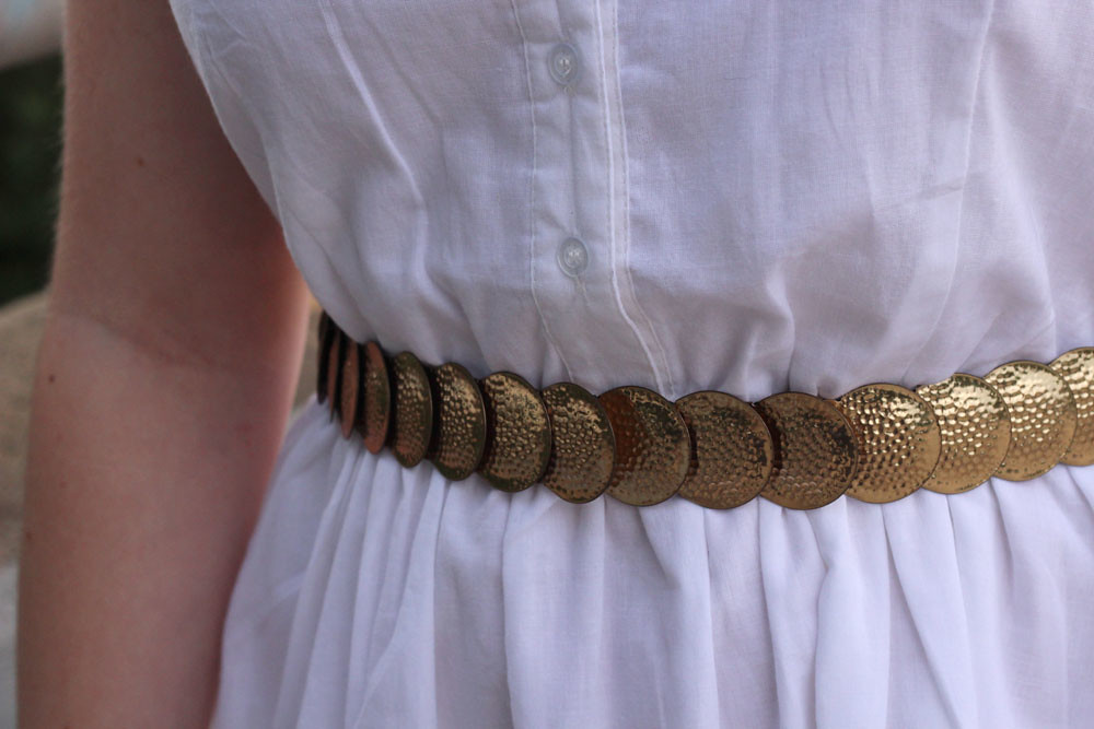 Shiny Gold Coin Stretchy Waist Belt