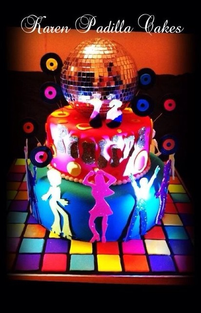 Disco Party Cake | Flickr - Photo Sharing!
