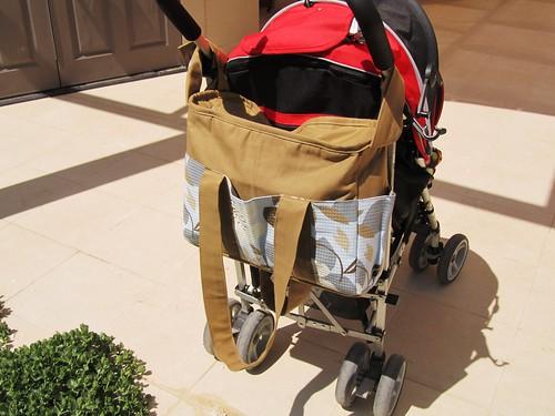 zipper nappy diaper bag with stroller straps flickr photo sharing. Black Bedroom Furniture Sets. Home Design Ideas