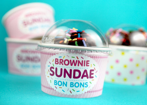 Brownie Sundae Bon Bons | by Bakerella