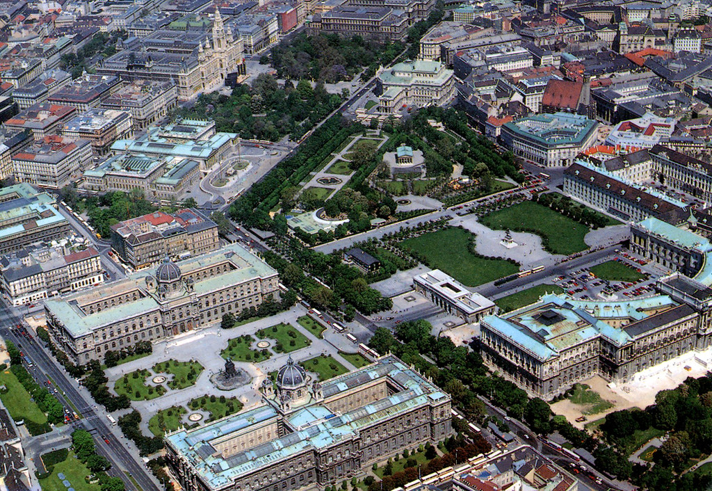 Vienna Ring And Hofburg From Air Postcard A Postcard