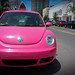 Big Pink's Volkswagen Beetle Delivery Car -  South Beach, Miami FL