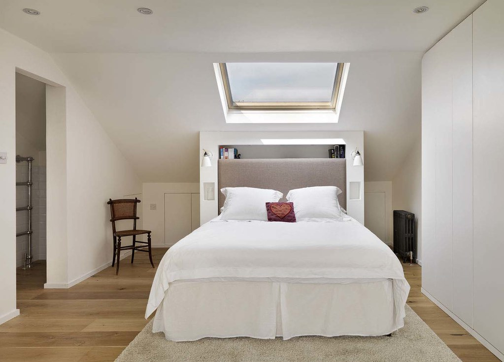 Loft conversion double bedroom holland and green - How to convert a loft into a bedroom ...
