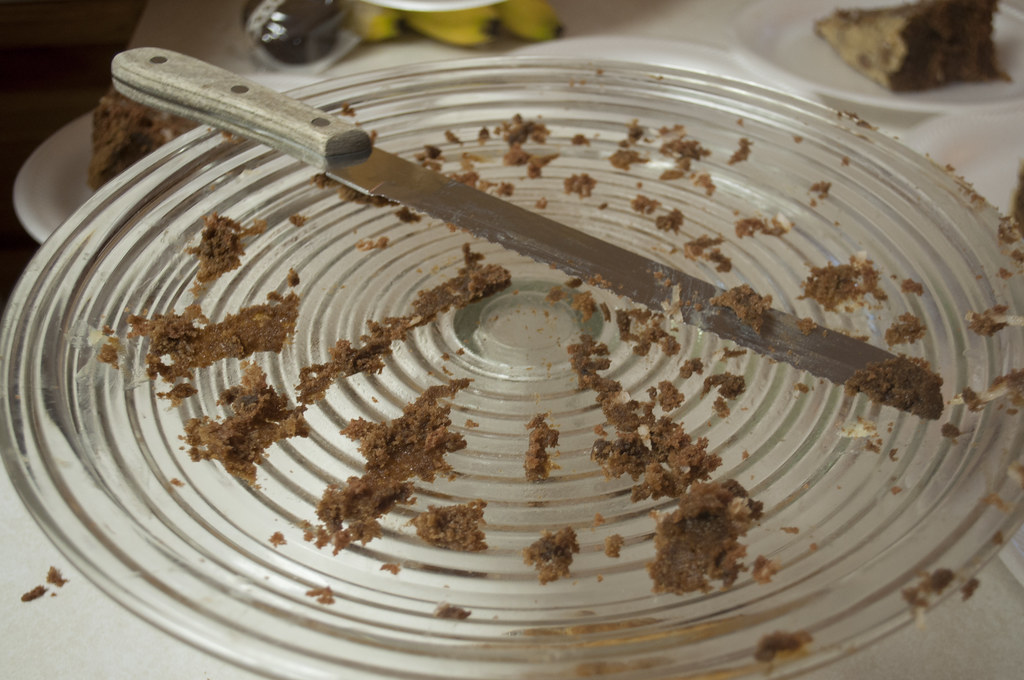 Empty Cake Plate