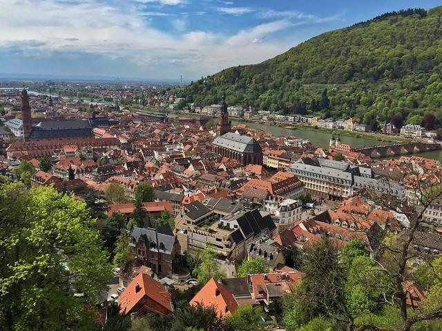 Vistas de Heidelberg desde el castillo