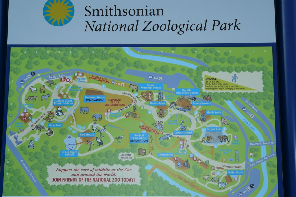 National Zoo Washington dc Map National Zoo Map | by