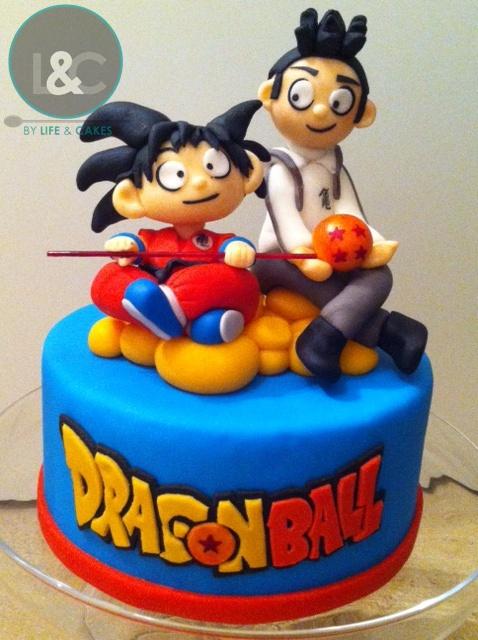 Dragon Ball Cake Topper | Goku & Nicolas flying on kinton ...