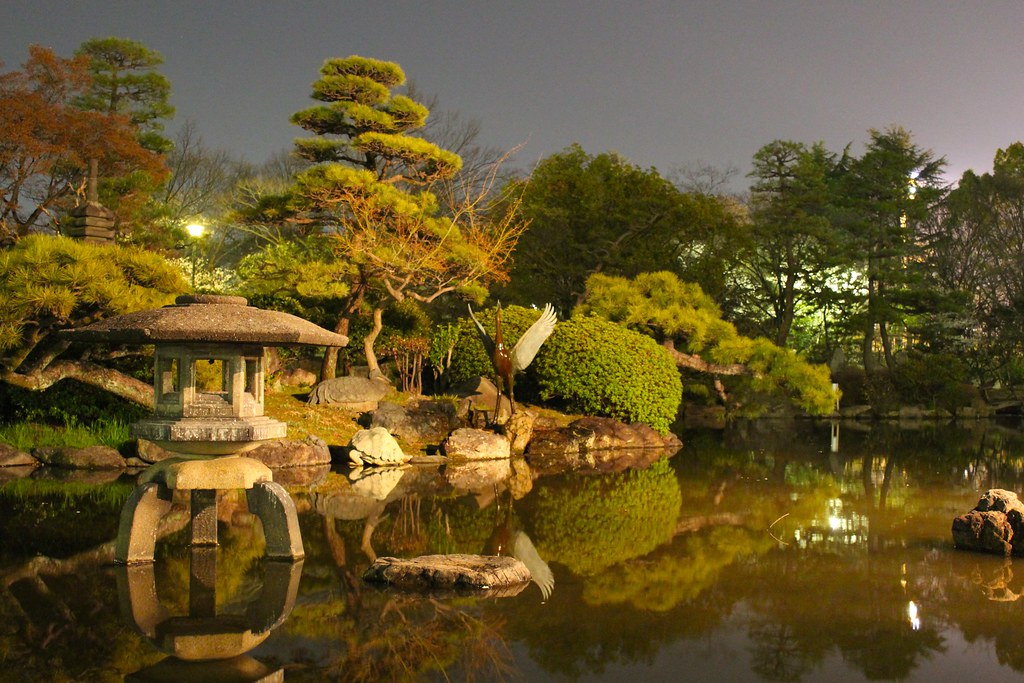 Japanese garden at night my brother actually captured this flickr for A night at the garden