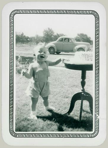 Child and cake