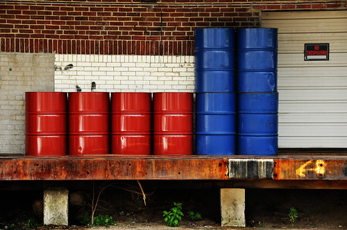red and blue barrels | by Violentz