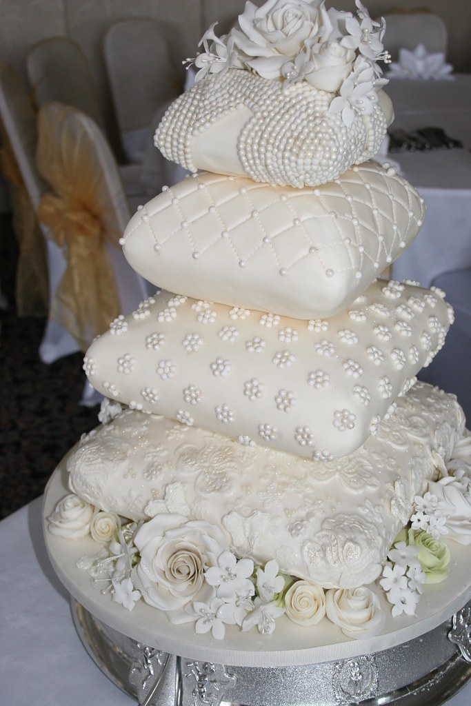 pillow wedding cake photos four tiered cushion pillow wedding cake for the savoy flickr 18517