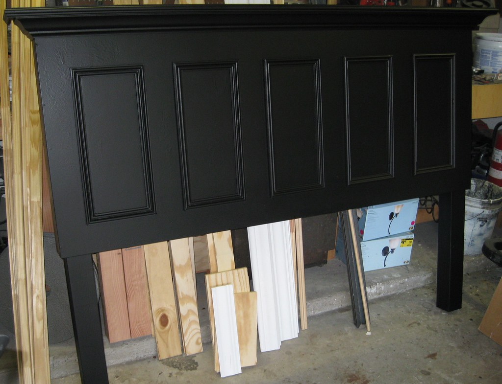 Five Panel Door Headboard 5 Panel Door Made Into A Headboard Legs Added Then Paint Flickr