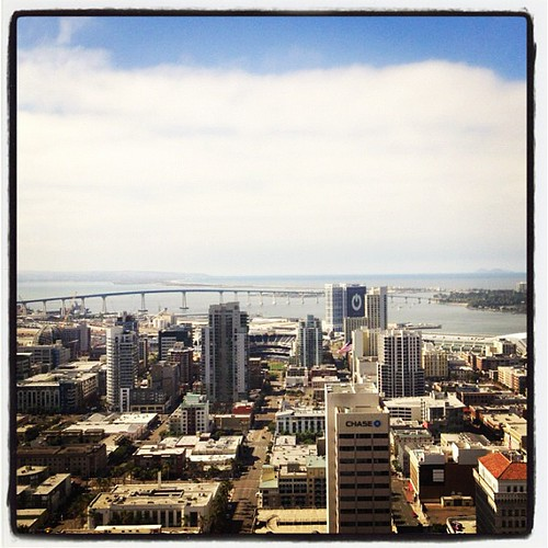 Downtown San Diego skyline today. #SaveOurSummer ! | by ayreshotels