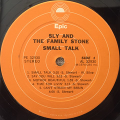 SLY & THE FAMILY STONE:SMALL TALK(LABEL SIDE-A)