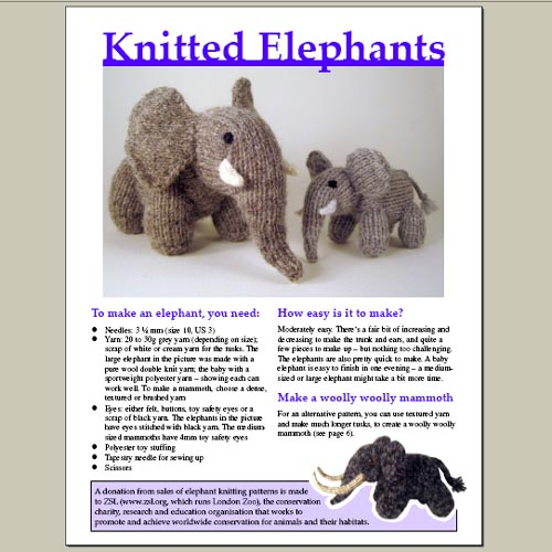 Knitting Pattern For Woolly The Spider : Knitting pattern for elephant and woolly mammoth You can ...
