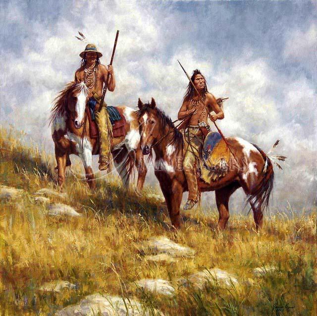 Keepers of the Prairie (Crow), James Ayers original painti ...