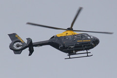 G-CPAO - 2009 build Eurocopter EC135 P2+, on patrol prior to the Grand National at Aintree