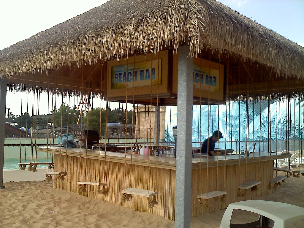 The beach bar at mt olympus in wisconsin