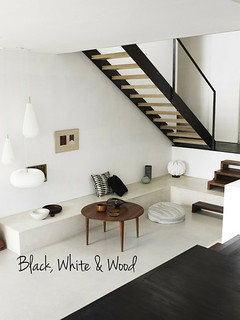 black, white & wood | by the style files
