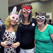 Susan, Emily, and me, masked