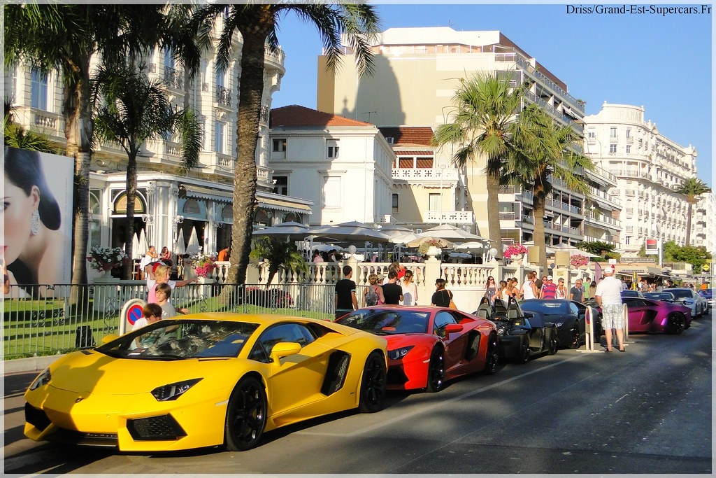 super combo aventador lamborghini in cannes g e supercars flickr. Black Bedroom Furniture Sets. Home Design Ideas