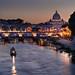 Sunset on Sant'Angelo Bridge