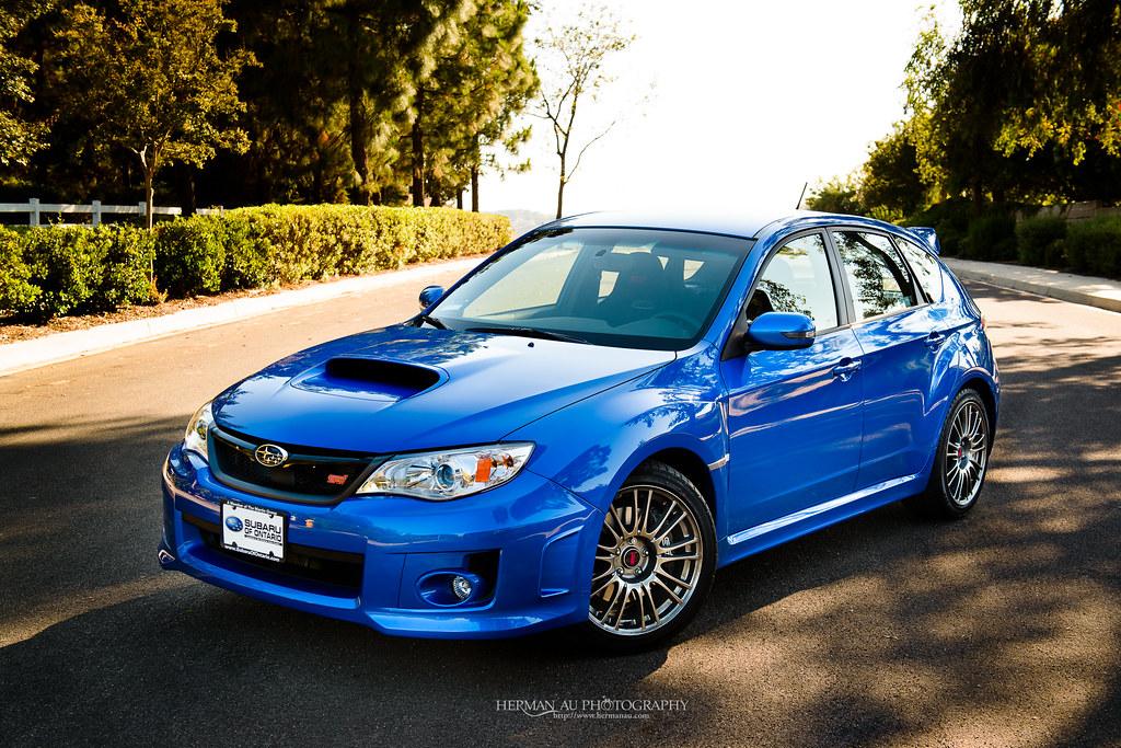 Hatch in World Rally Blue