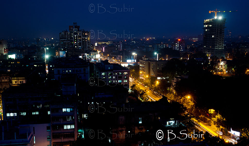 "Aerial view of kolkata at night....DSC_3507 | Click ""L ..."
