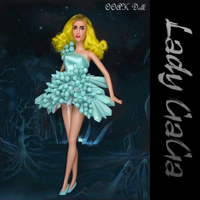 green crystal lady gaga doll | Lady GaGa green crystal ... Lady Gaga