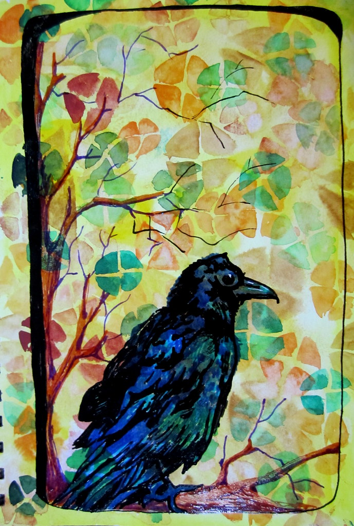 Image result for raven painting