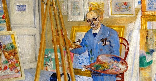 a painting by James Ensor