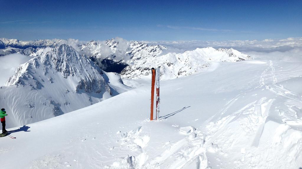 Panoramique depuis le sommet du Rocher Blanc, vue vers la Belle Étoile