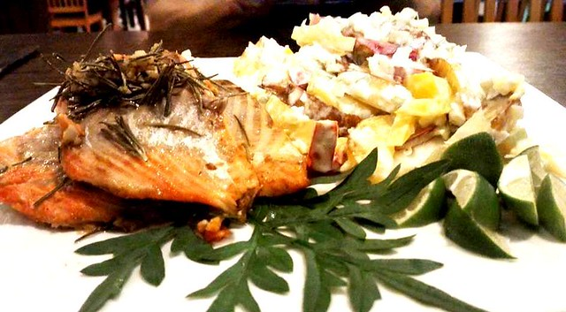 Salmon platter at Payung Cafe 1