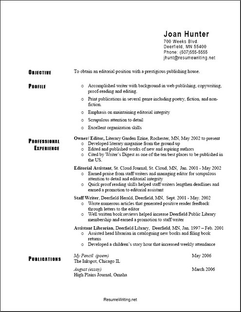 Different Type Of Resume Formats Different Types Of Resumes