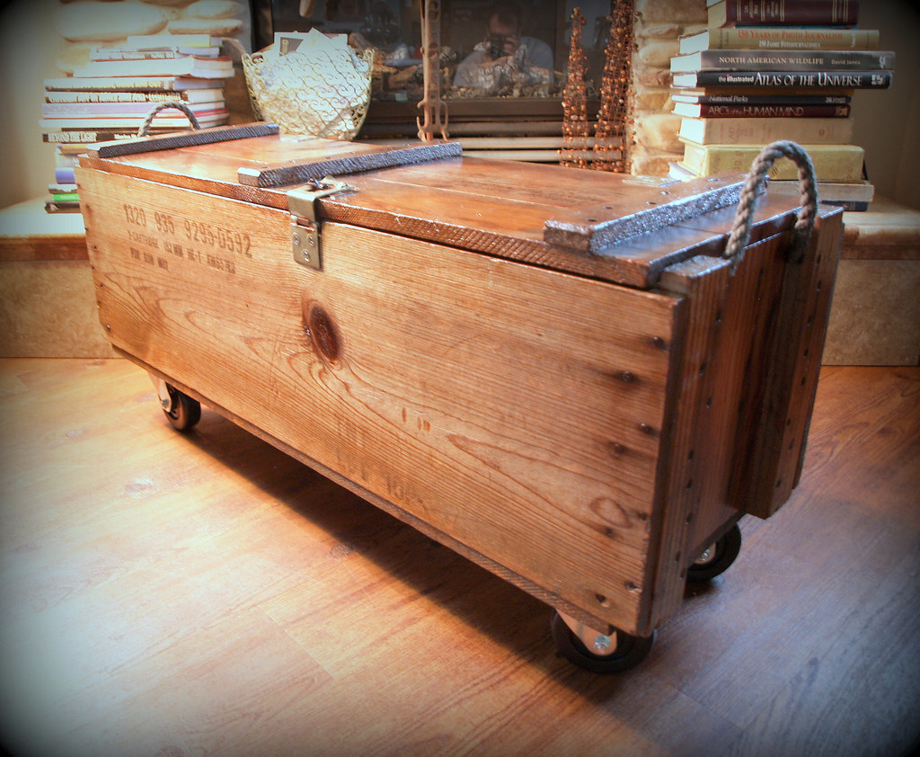 Industrial Furniture Wood Box Wooden Crate Coffe Flickr