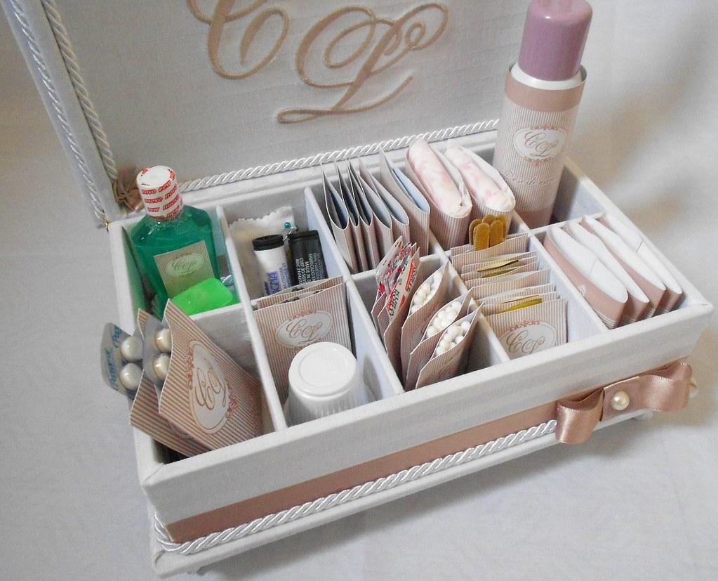 Kit Banheiro Casamento Luxo : Caixa forrada para kit de banheiro festas casamento