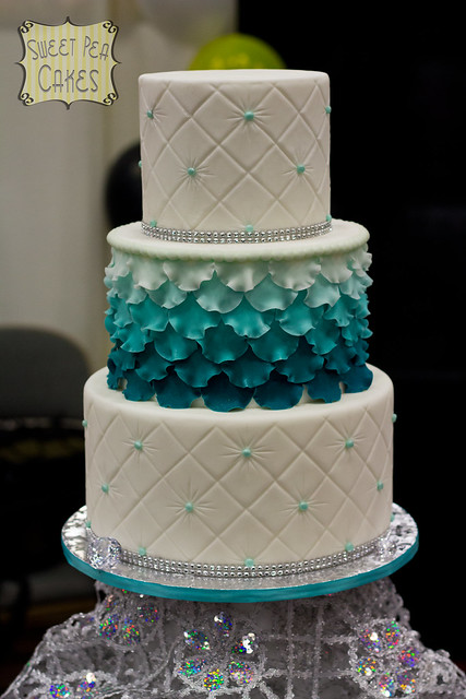 Ombre Cake Teal Gold