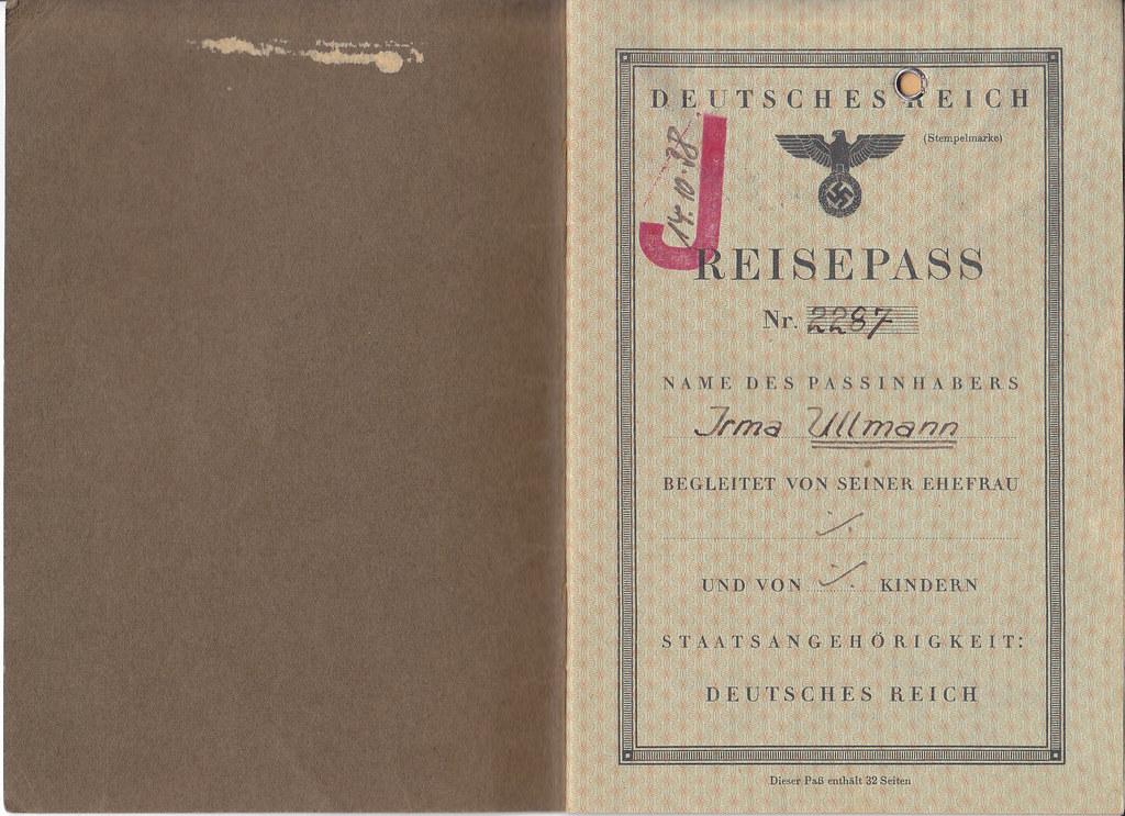 irma ullmann u0026 39 s german passport  deutsches reich reisepass