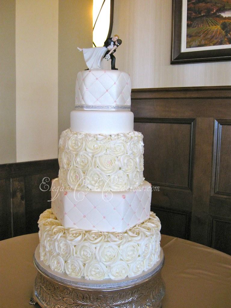 Rosette Wedding Cake Buttercream Rosettes Are The Stars