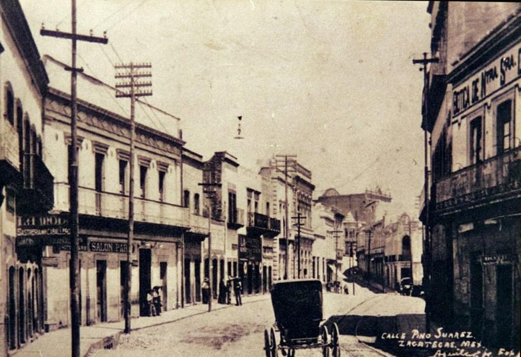Zacatecas antigua calle pino su rez ayer hoy hidalgo 1 for B b new york centro