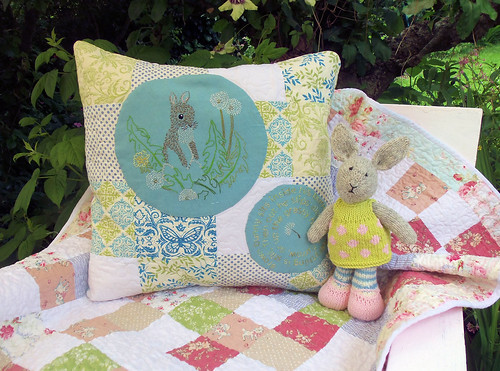 Dandelion Bunny Embroidery (3) | by Bustle & Sew