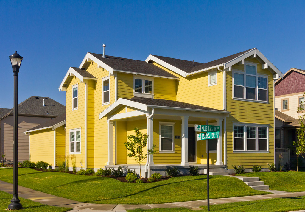 house painting ideas exterior photos - Modern Yellow House