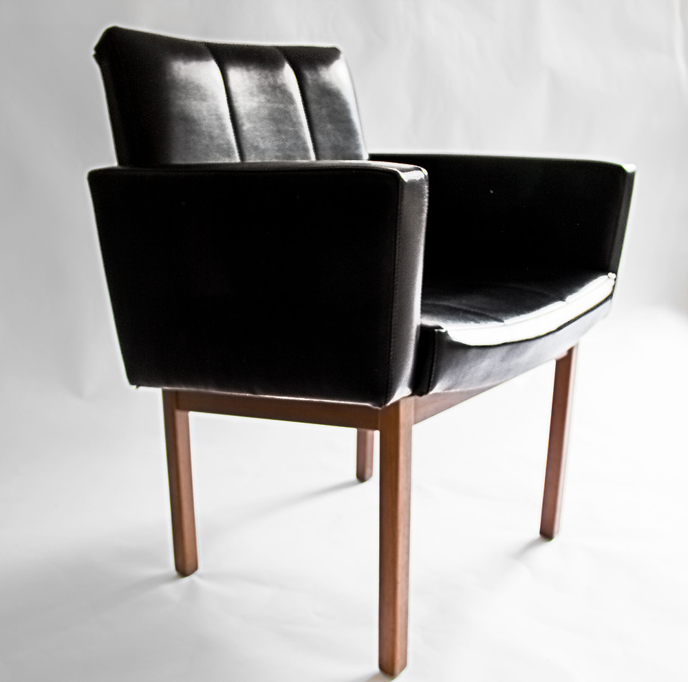 Rat In My Kitchen Etsy Black Mid Century Chair Retro Leath