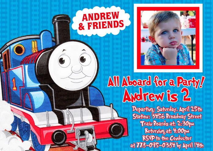 Thomas Train- Custom Birthday Invitation | Printable ...