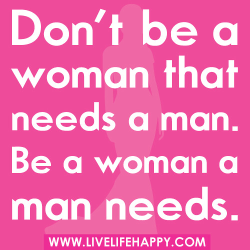 how to be a man woman love