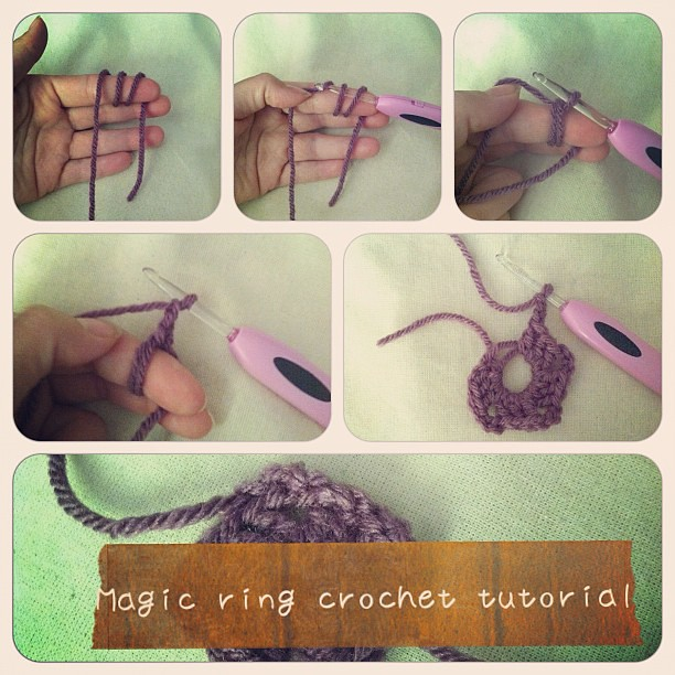 Crochet Magic Circle Tutorial : Magic ring crochet tutorial Start your granny squares ...