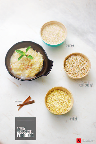 Very wholesome porridge - quinoa/millet/oat | by Anh Yü