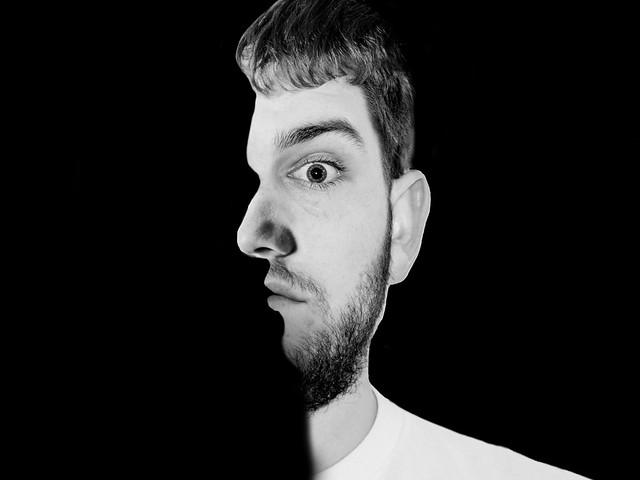 Superposición de cara de perfil con alzado. Motivación VS estimulación creativa