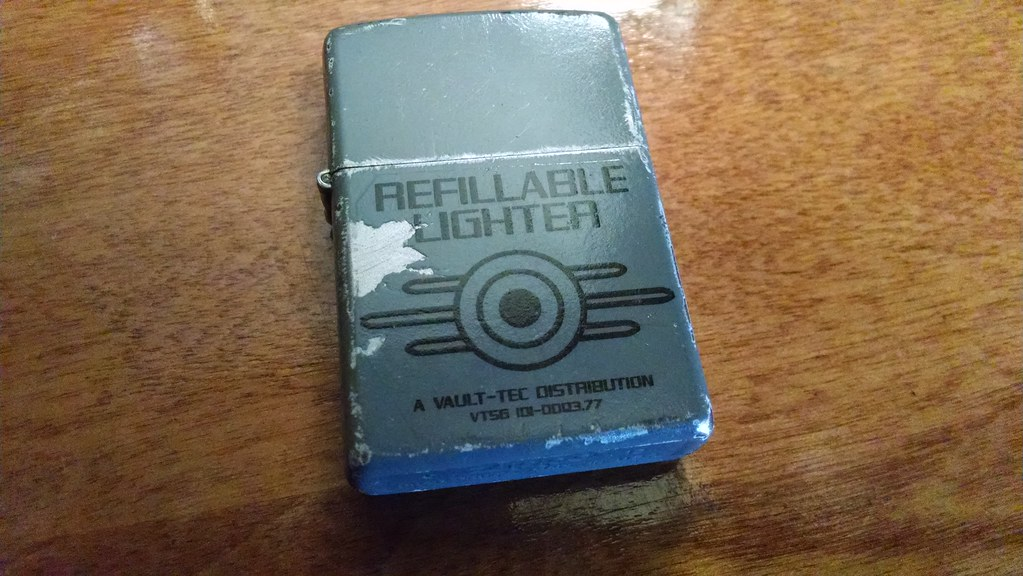 Vault Tec: Standard Issue Refillable Lighter : Found this ...