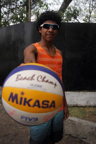 Equipo de voleibol de playa rumbo a Copa Continental